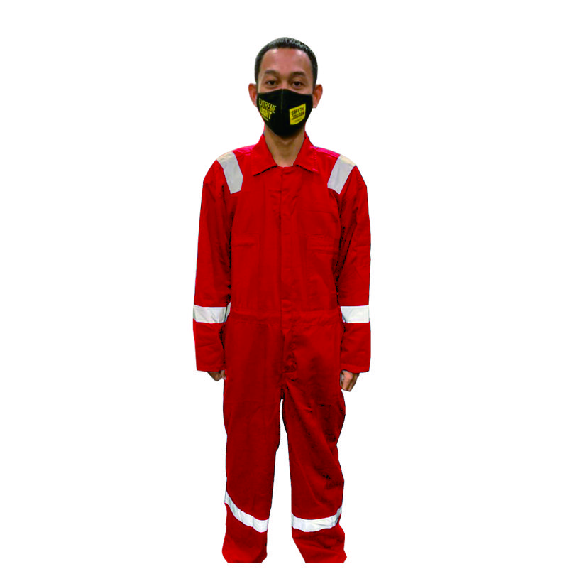 SR SHIELD COVERALL AMERICAN DRILL RED