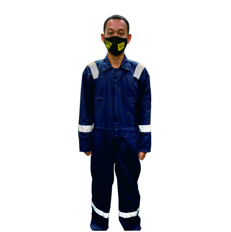 SR SHIELD COVERALL AMERICAN DRILL NAVY